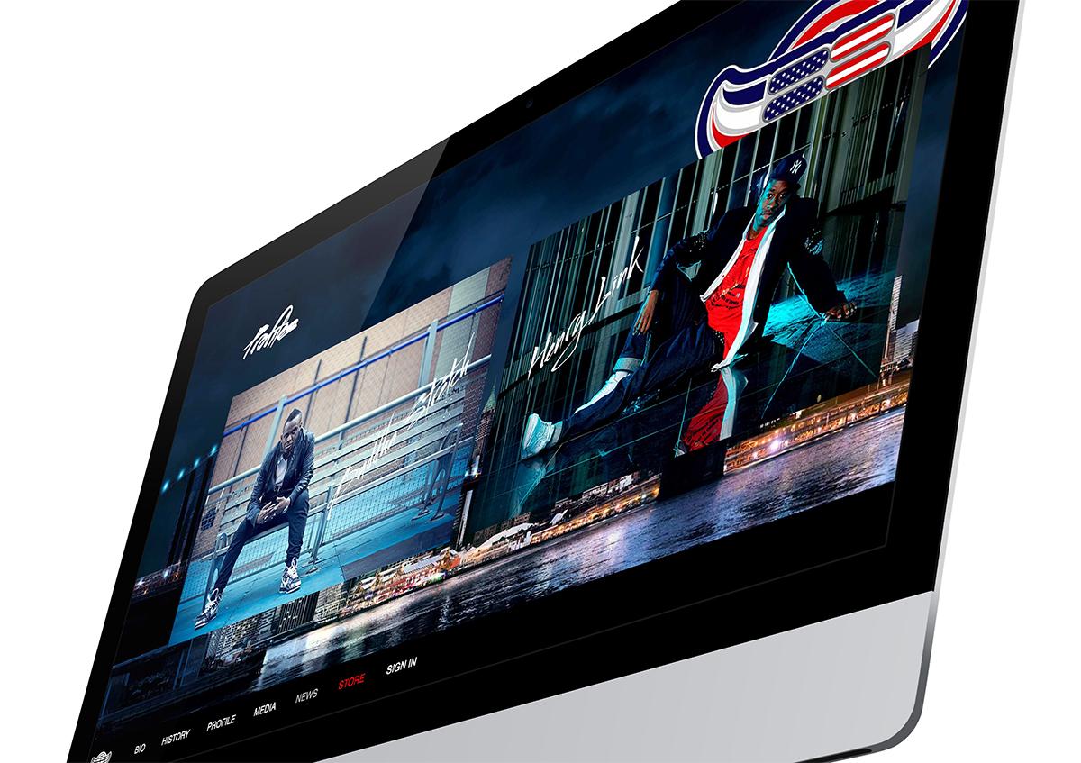 Elite Force Crew website on the computer