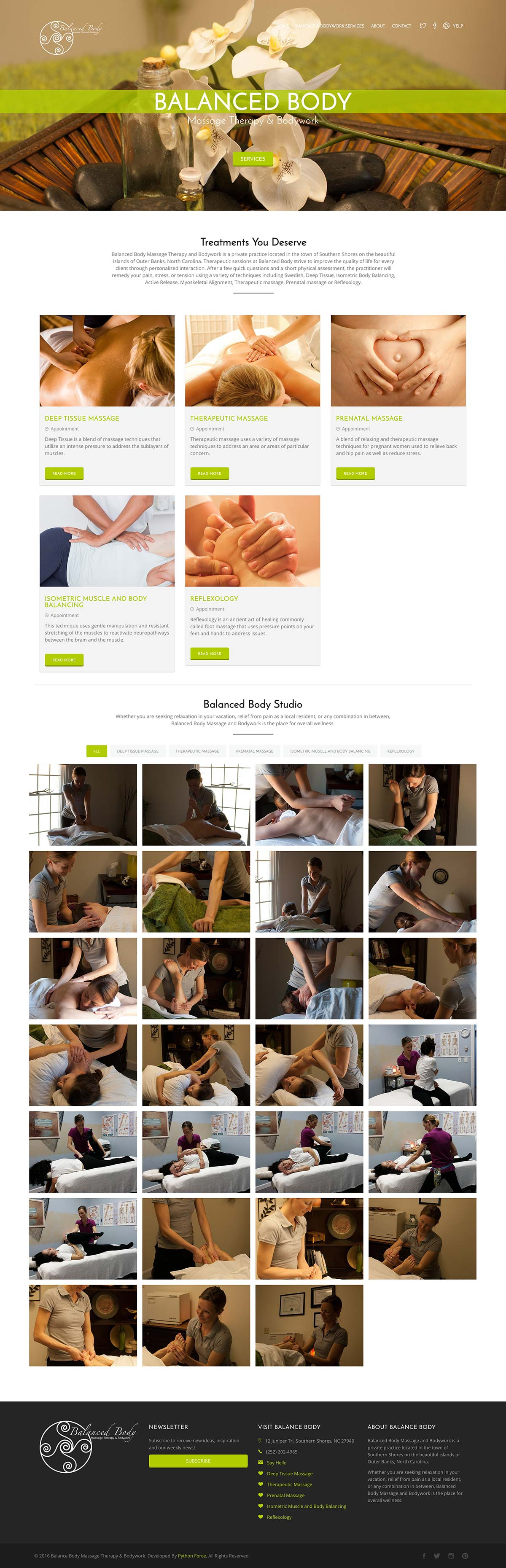 Balanced Body Massage Therapy & Bodywork website
