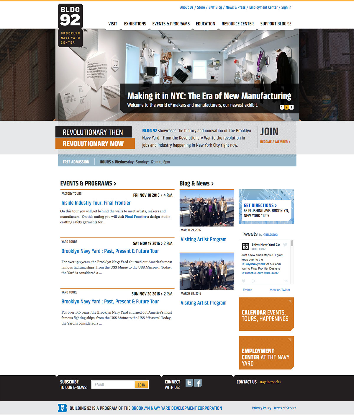 BROOKLYN NAVY YARD CENTER AT BLDG92 website